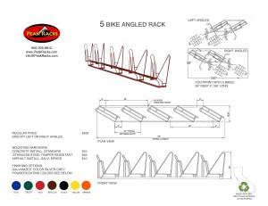 5 Bike Slot Angled Rack