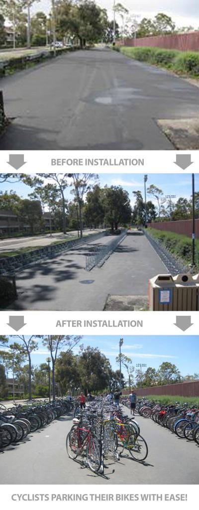 Step-By-Step Bike Rack Installation Detail