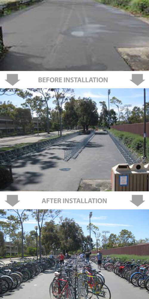 Step-By-Step Bike Rack Installation Detail