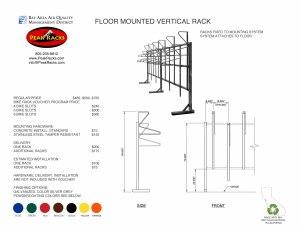 Floor Mounted Vertical Rack