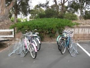 Angled Bike Racks - Installation - Back to Back Parallel