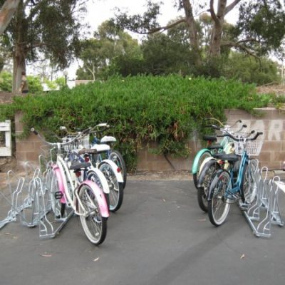 Angled Bike Racks – Installation – Back to Back Parallel