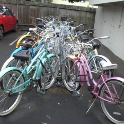 Angled Bike Racks – Installation – Back to Back Full with Baskets