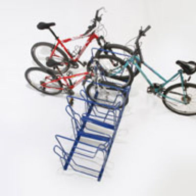 Double-Sided Bike Racks – 8 Slot – 3 Bikes – Top