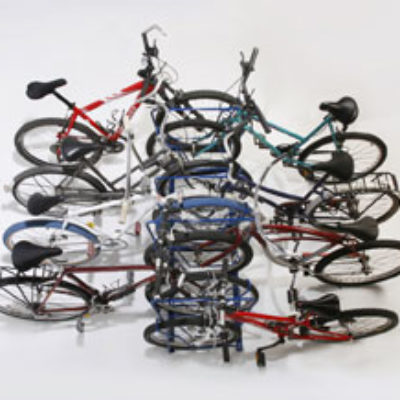 Double-Sided Bike Racks – 8 Slot – 8 Bikes Top