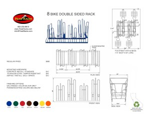 8 Bike Slot Double Sided Rack