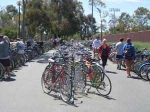 Angled Bike Racks - Rec Center Full
