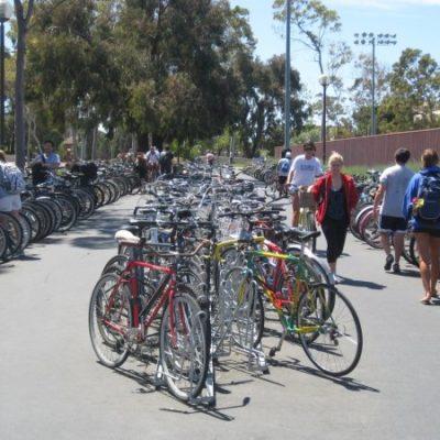 Angled Bike Racks – Rec Center Full