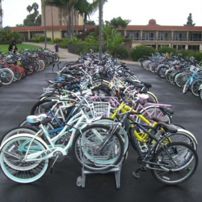 Double-Sided Bike Racks – SC Parallel Rows