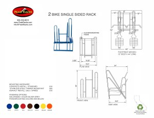 2 Bike Single-Side Rack