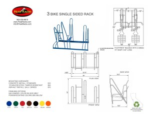 3 Bike Single-Side Rack