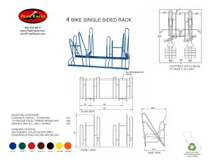 4 Bike Single-Side Rack