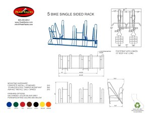5 Bike Single-Side Rack