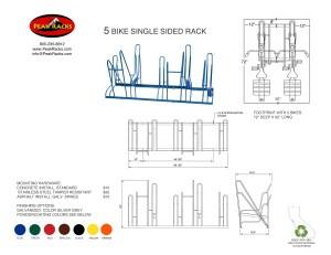 5 Bike Single-Side Rack