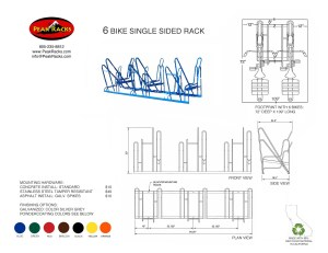 6 Bike Single-Side Rack