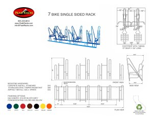 7 Bike Single-Side Rack
