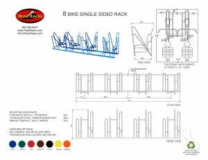 8 Bike Single-Side Rack