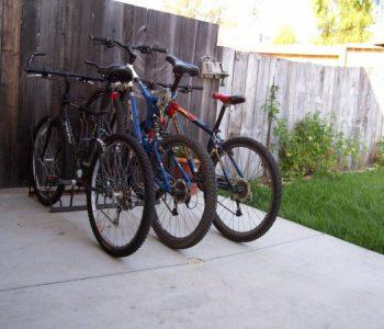 Home Bike Racks - 3 Slot - Outdoor Angle